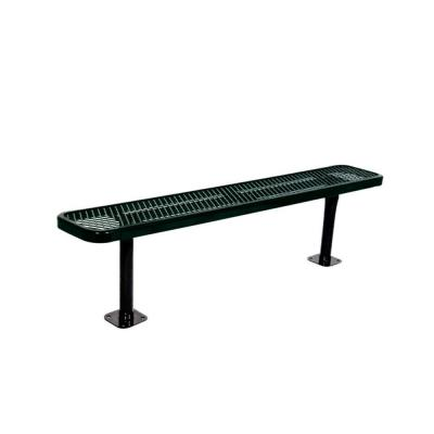 6 in. Diamond Black Commercial Park Bench without Back Surface Mount