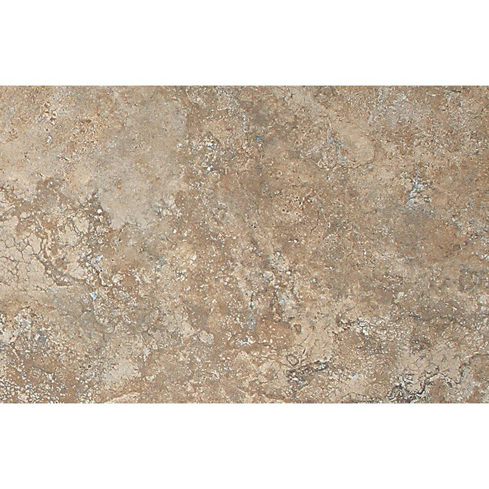 Tumbled Noce Stone Effect Travertine Wall Tile Pack Of 15: Daltile Continental Slate Moroccan Brown 12 In. X 12 In