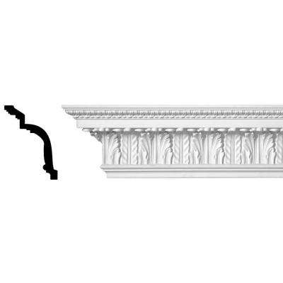 6-15/16 in. x 5-1/4 in. x 96 in. Acanthus and Lambs Tongue Polyurethane Crown Moulding