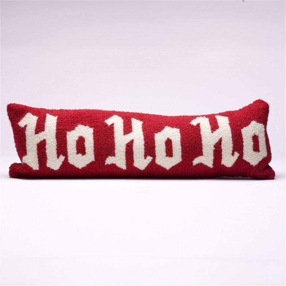 24 in. Monogram Hooked Pillow