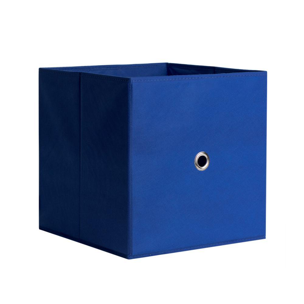 Full Fabric Drawer 12.5 in. x 12.5 in. Royal Blue Fabric Storage Bin