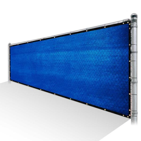 Colourtree 6 Ft X 187 Ft Blue Privacy Fence Screen Hdpe Mesh Windscreen With Reinforced Grommets For Garden Fence Custom Size 6x187fs 6 The Home Depot