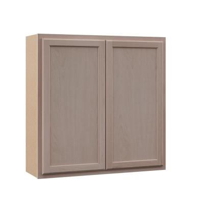 Hampton Assembled 36x36x12 in. Wall Cabinet in Unfinished Beech