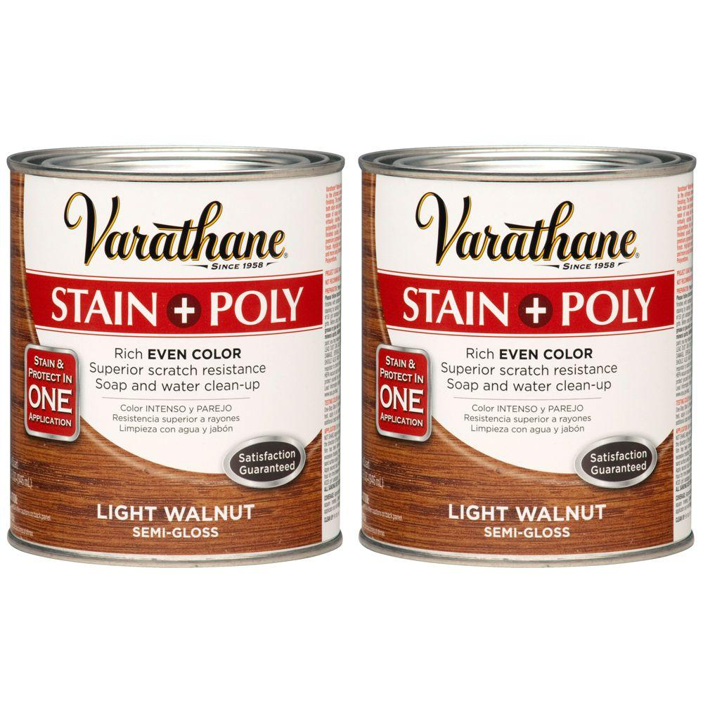 Varathane 1 Qt. Light Walnut Wood Stain and Polyurethane (2-Pack)-DISCONTINUED