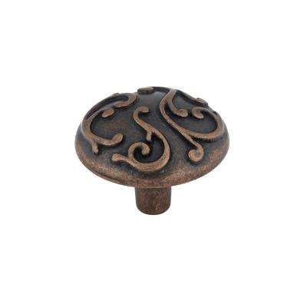 1-7/32 in. Antique Copper Cabinet Knob