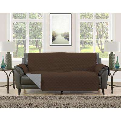 Barrett Burgundy/Brown Microfiber Reversible Couch Protector
