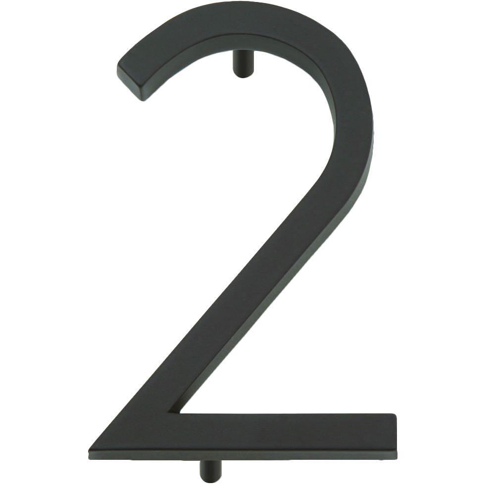 Modern Avalon Collection 4.5 in. Oil-Rubbed Bronze Number 2