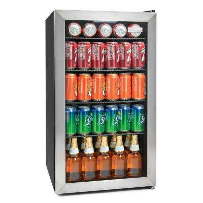 135-Can Stainless Steel Beverage Cooler