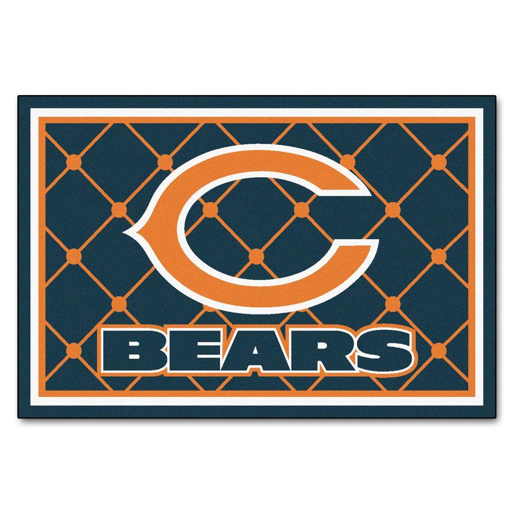 Fanmats Chicago Bears 5 Ft X 8 Ft Area Rug 6566 The