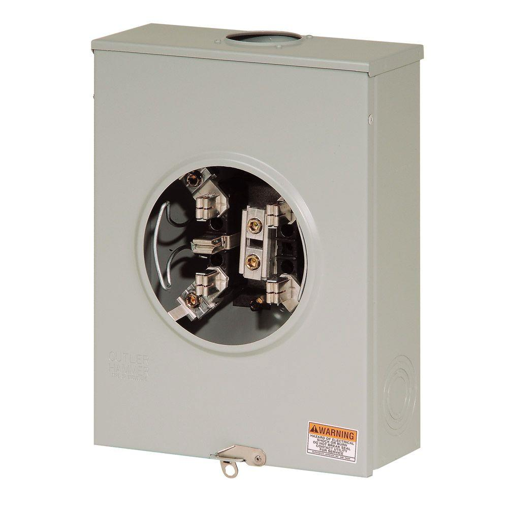 Eaton 200 Amp 5 Terminal Overhead Or Underground Meter Socket With Lever Bypass Uge4213cccch The Home Depot