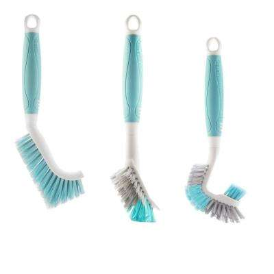 Ultimate Kitchen Brush in Teal (Set of 3)
