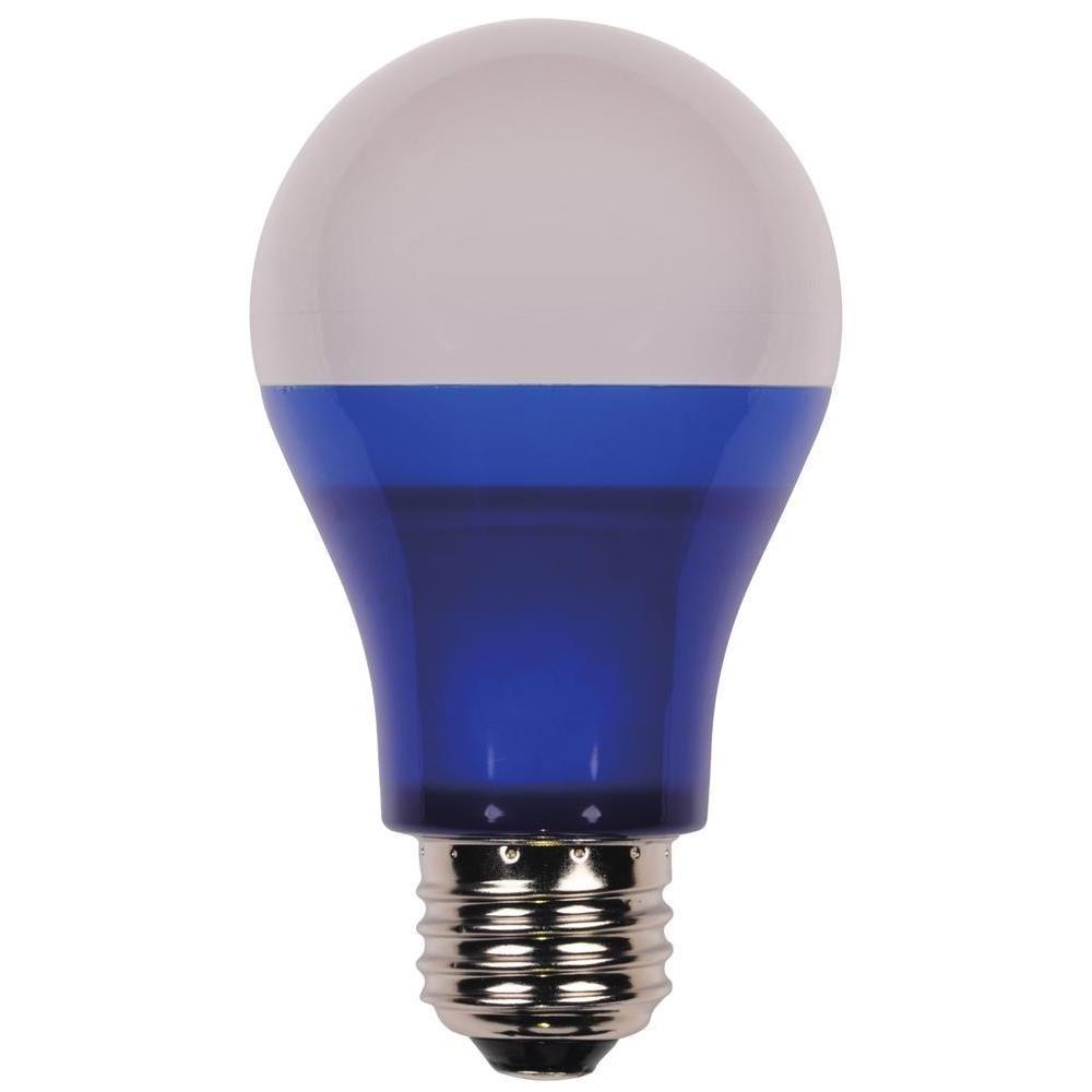 40-Watt Equivalent Blue Omni A19 LED Party Light Bulb