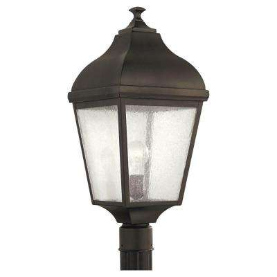 Terrace 1-Light Oil Rubbed Bronze Outdoor Post Top Light
