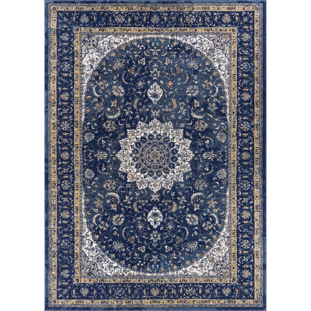 Well Woven Luxury Mahal Blue 8 Ft X 11 Ft Traditional Medallion