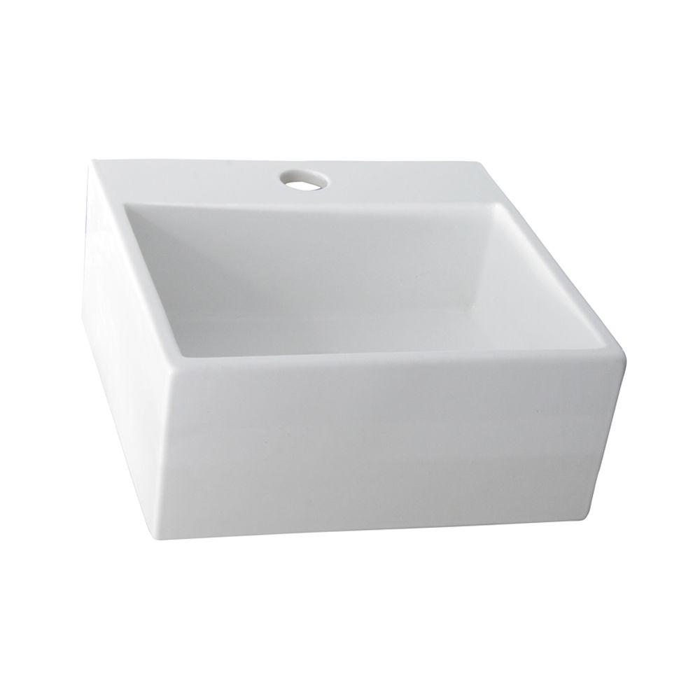 Barclay Products Mini Nova Vessel Sink In White 4 381WH   The Home Depot