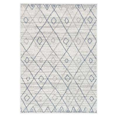 Geometric Trellis Bohemian Cream 7 ft. 10 in. x10 ft. Area Rug