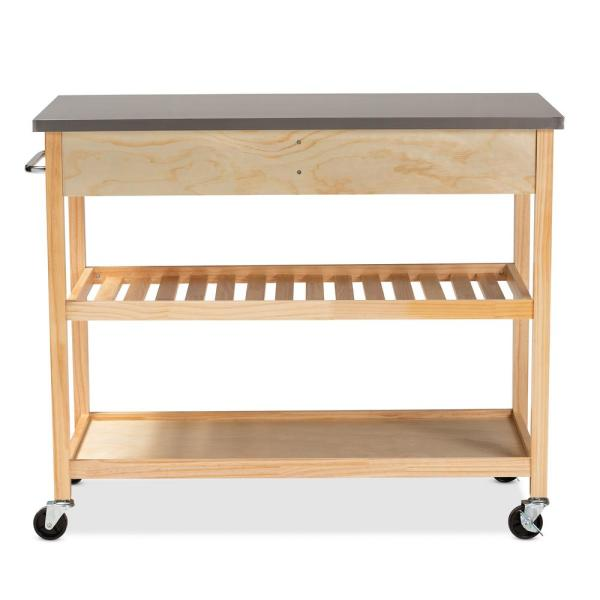 Baxton Studio Cresta Natural Kitchen Island With Storage Cart 153 9042 Hd The Home Depot,Lebanon New Hampshire Airport