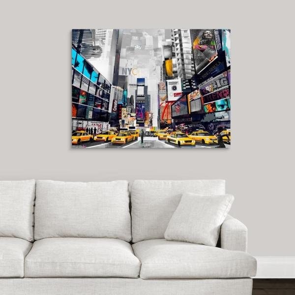 GreatBigCanvas ''Times Square'' by Grey James Canvas Wall Art 2532154_24_40x30