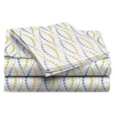 Jill Morgan Fashion Printed Straw Gazelle Microfiber Twin Sheet Set (3-Piece)