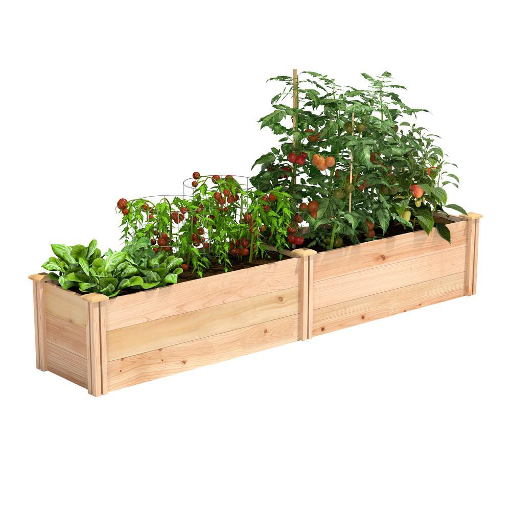 16 in. x 8 ft. x 16.5 in. Premium Cedar Raised Garden Bed