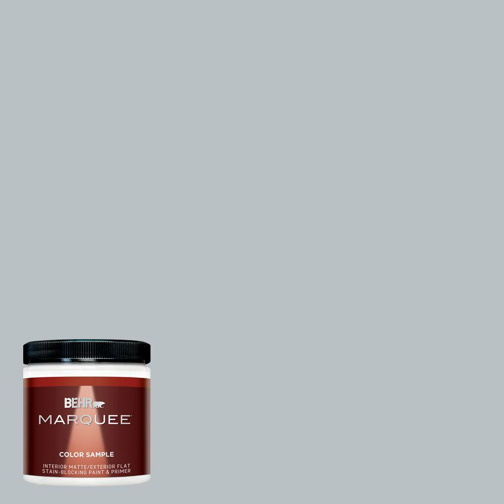 BEHR MARQUEE 8 Oz. #MQ5 31 Distant Star Matte Interior/Exterior Paint And  Primer Sample MQ30016   The Home Depot