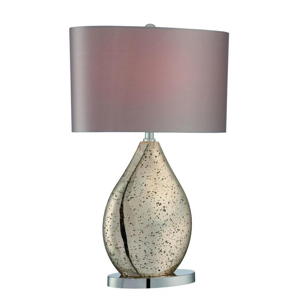 23 in. Polished Chrome Table Lamp