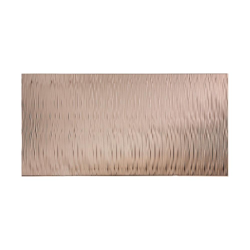Fasade Waves Vertical 96 In X 48 In Decorative Wall Panel In Brushed Nickel S74 29 The Home