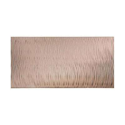 Waves Vertical 96 in. x 48 in. Decorative Wall Panel in Brushed Nickel