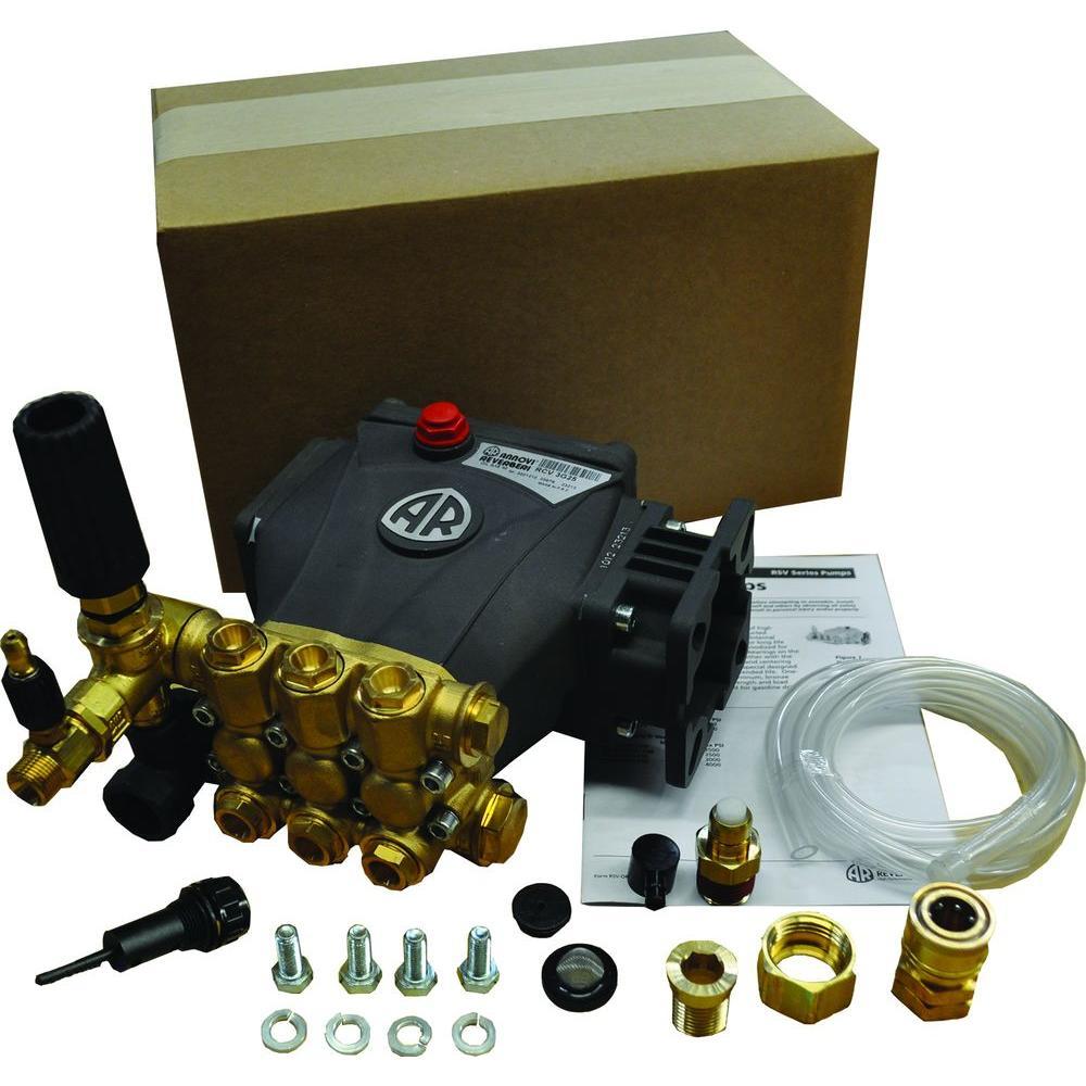 3000-PSI 2.7-GPM Triplex Plunger Pump