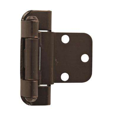 3/8 in. (10 mm) Oil-Rubbed BronzeInset Self-Closing, Partial Wrap Hinge (2-Pack)