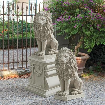 Mansfield Manor Lion Sentinel Statue Set (2-Piece)