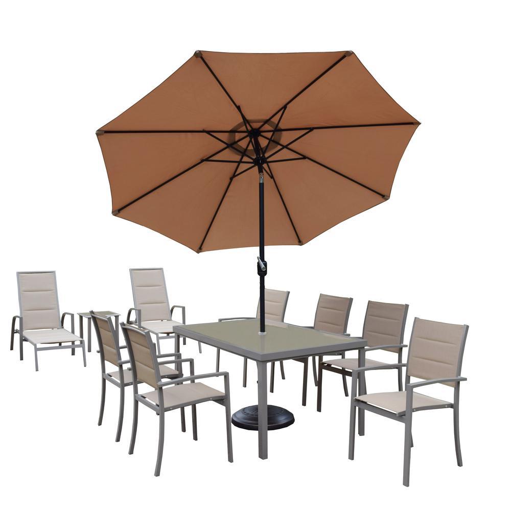 12 Piece Aluminum Outdoor Dining Set