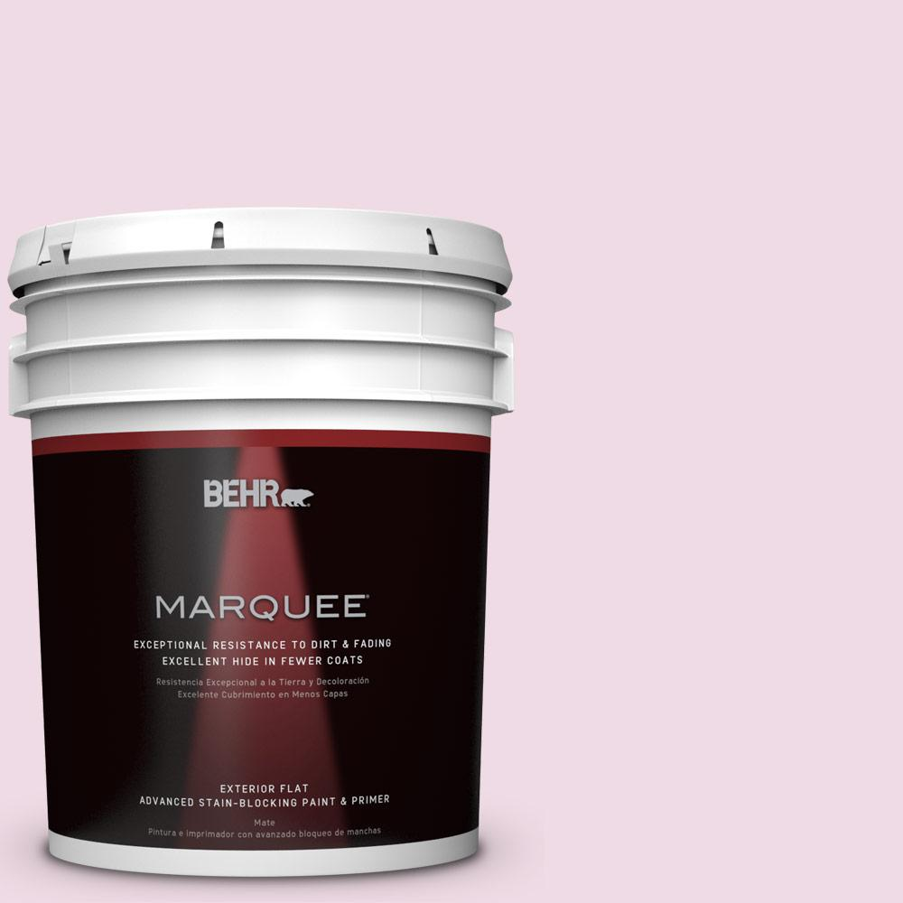 5-gal. #M130-1 Pink Posies Flat Exterior Paint