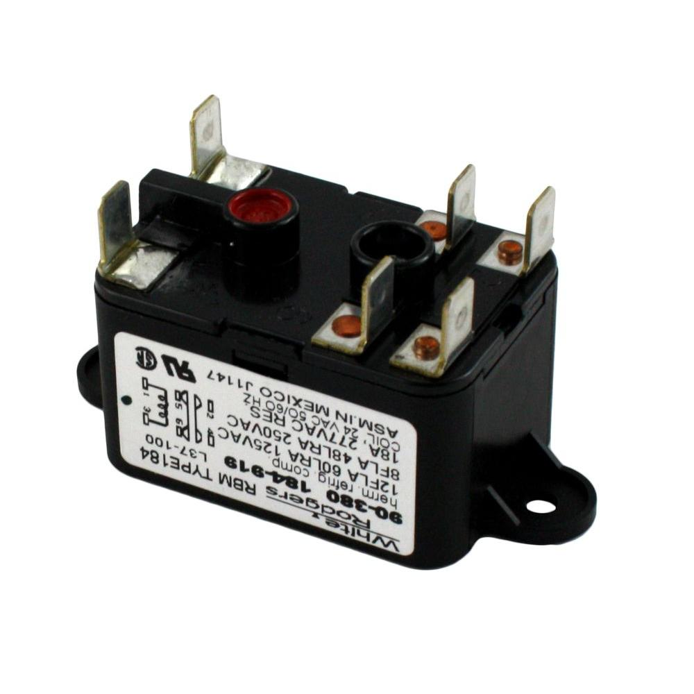 White Rodgers 24-Volt Coil-Voltage SPNO-SPNC RBM Type Relay