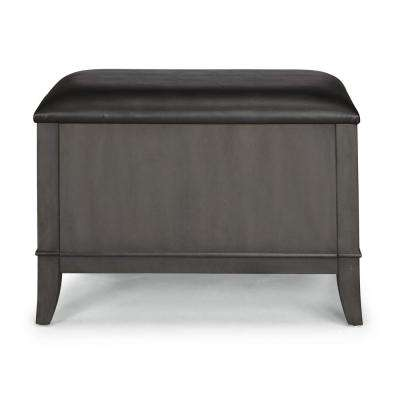 5th Avenue Black Storage Bench