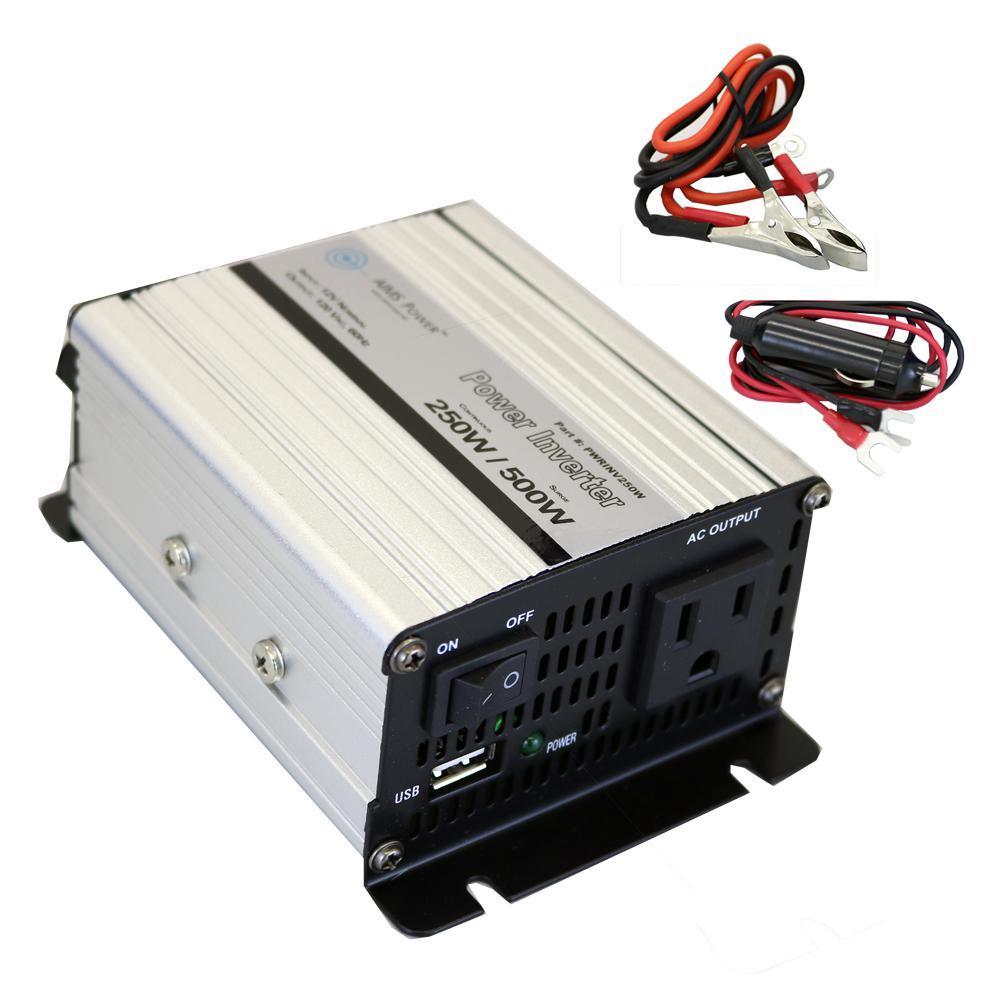 250 Watt Modified Sine Inverter 12 Volt Dc To 120 Volt