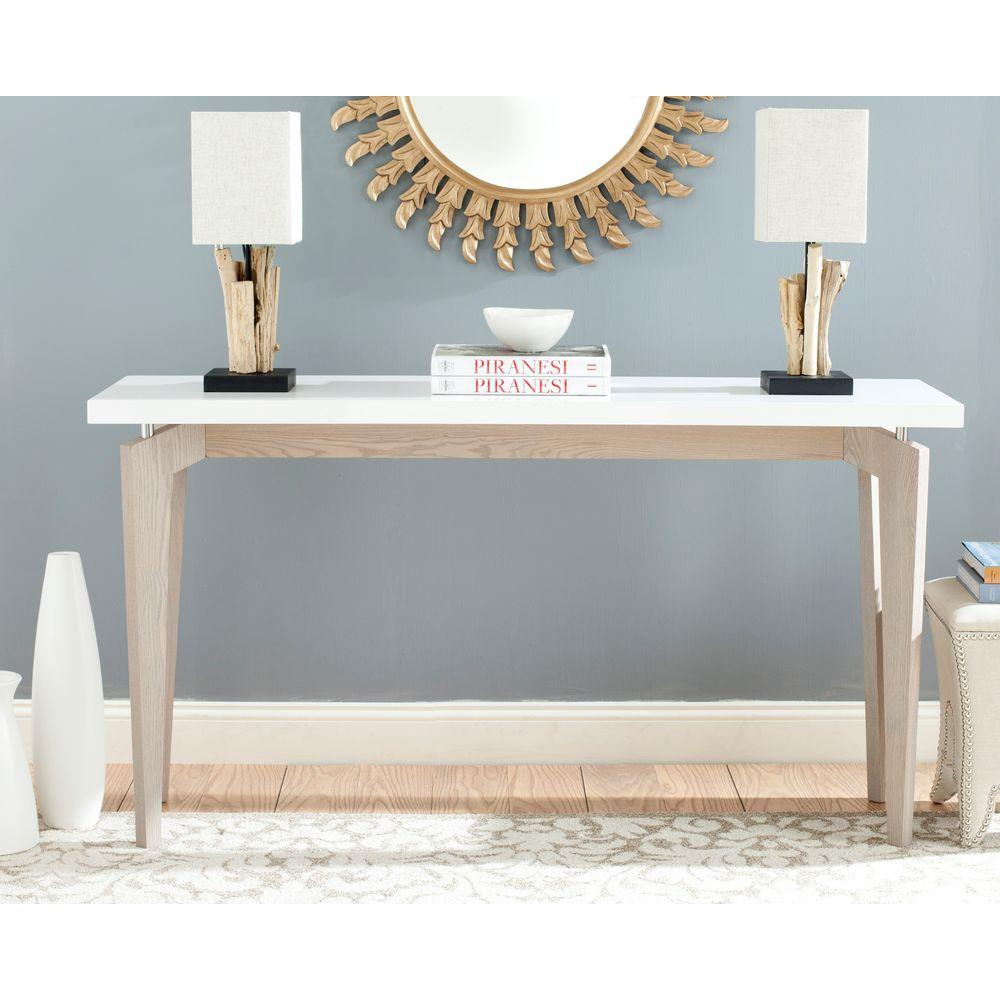 Safavieh Josef White And Grey Console Table