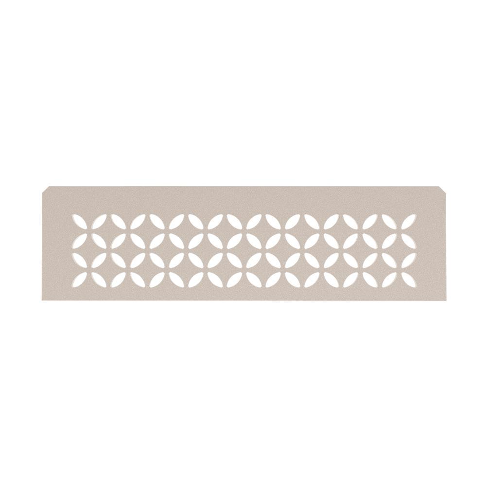 Shelf-N Cream Coated Aluminum Floral Niche Shelf