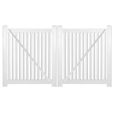 Williamsport 8 ft. W x 4 ft. H White Vinyl Pool Fence Double Gate