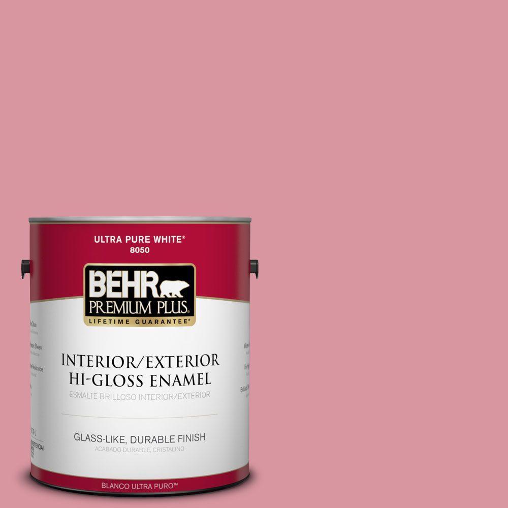 1-gal. #M150-4 Glow Pink Hi-Gloss Enamel Interior/Exterior Paint