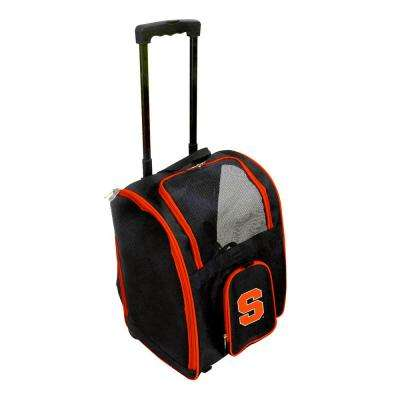 NCAA Syracuse Orange Pet Carrier Premium Bag with wheels in Navy