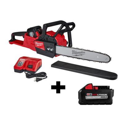 M18 FUEL 16 in. 18-Volt Lithium-Ion Battery Brushless Cordless Chainsaw Kit with 12Ah & 8Ah Batteries