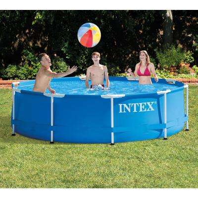 10 ft. Round x 30 in. D Metal Frame Above Ground Pool with 330 GPH Filter Pump