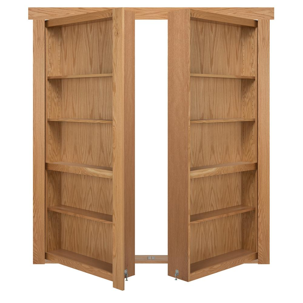 The Murphy Door 48 In X 80 In Flush Mount Assembled Oak Natural Stained Universal Solid Core