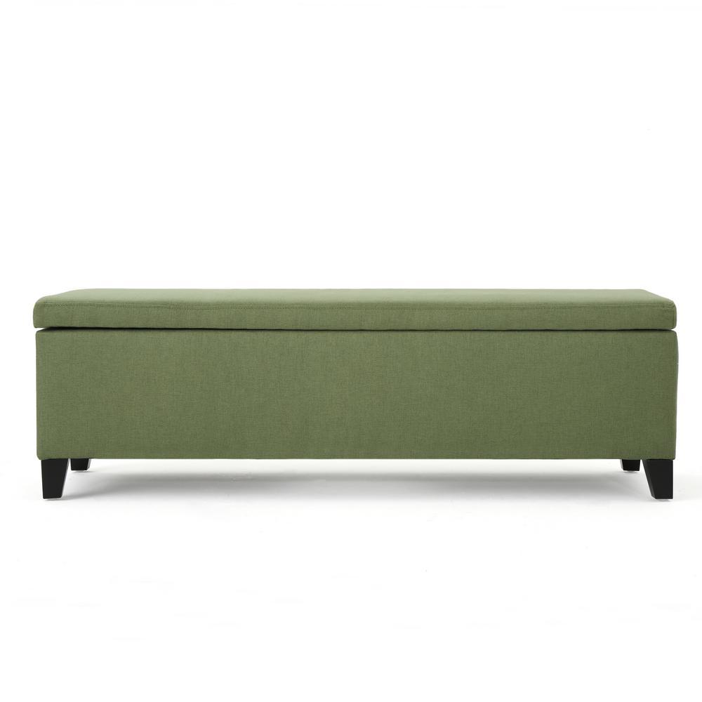 Cleo Moss Green Fabric Storage Bench