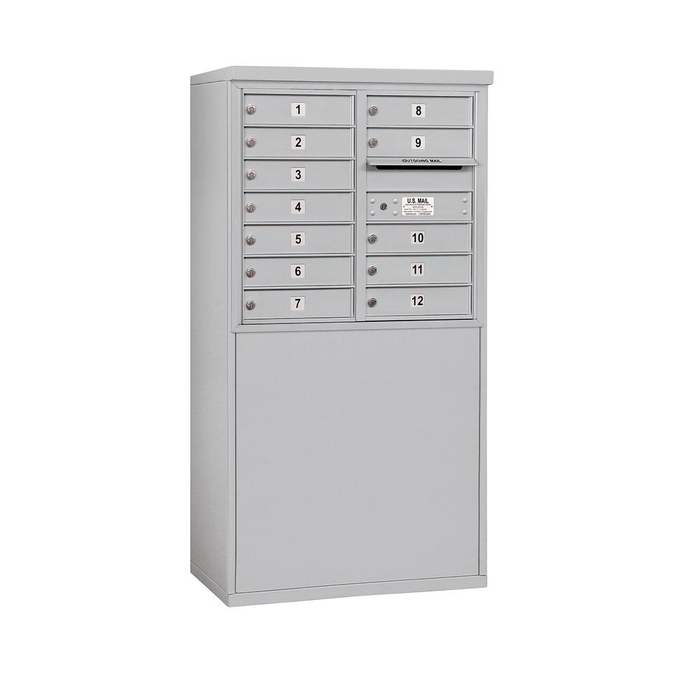 3900 Horizontal Series 12-Compartment Free Standing Mailbox