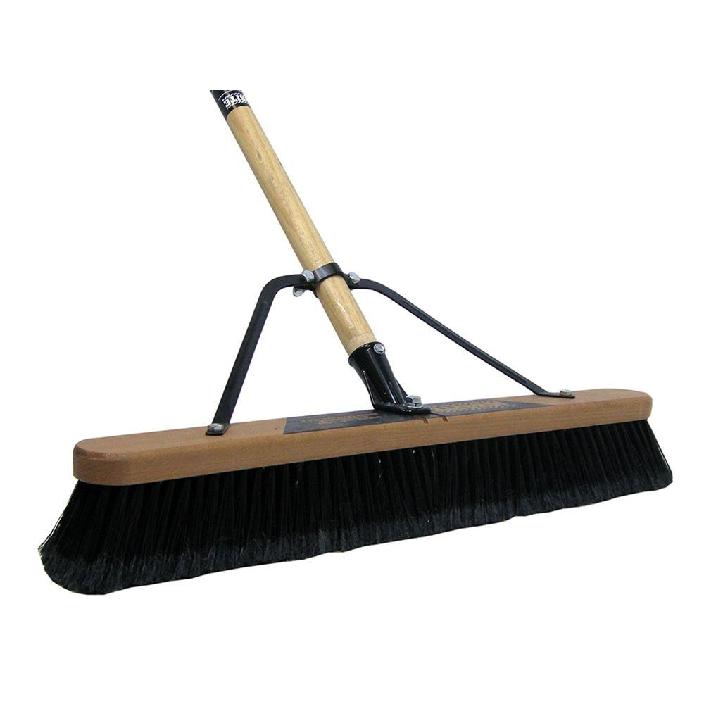 Quickie Job Site 24 in. Soft Sweep Pushbroom-Set Up (Case of 2)
