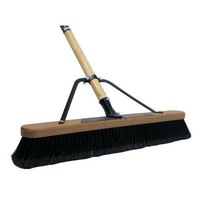 Job Site 24 in. Soft Sweep Pushbroom-Set Up (Case of 2)