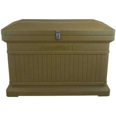 Oak Premium Horizontal Architectrual ParcelWirx Delivery Drop Box Hinged Lid with Swinging Latch for Locking