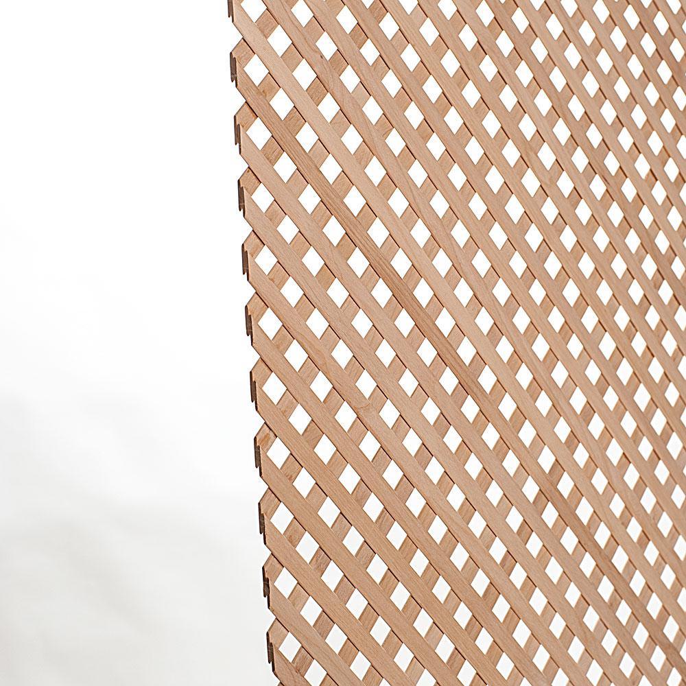 23-5/8 in. x 47-1/4 in. x 1/8 in. Unfinished Diagonal Solid Alder Mini Lattice Panel Insert